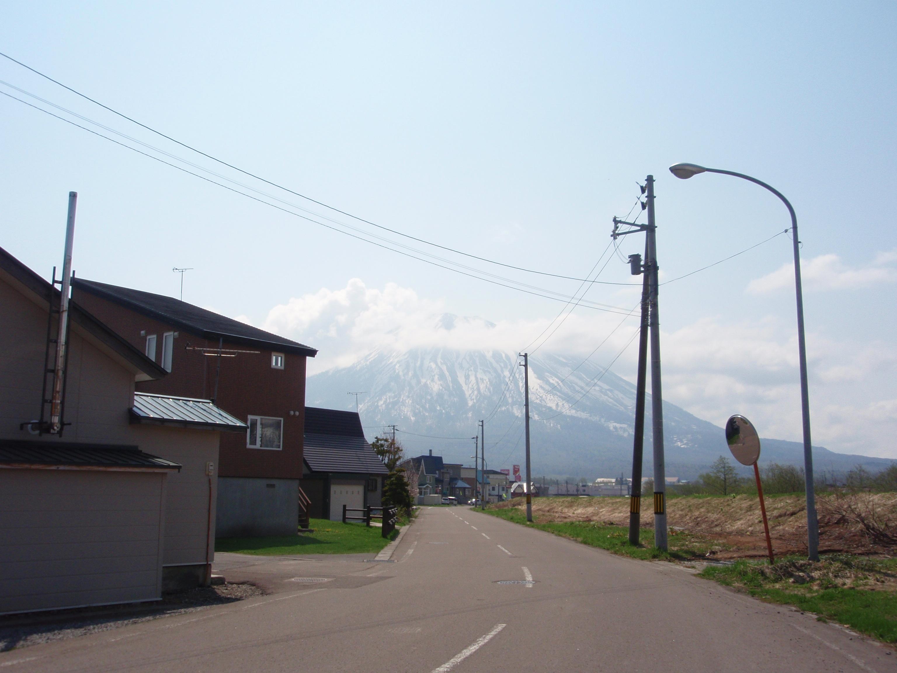 倶知安町の町並み