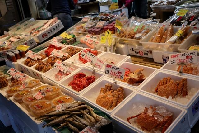 札幌の海鮮市場