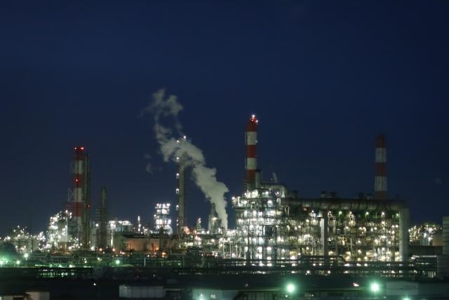 茨城県神栖市から見た工場