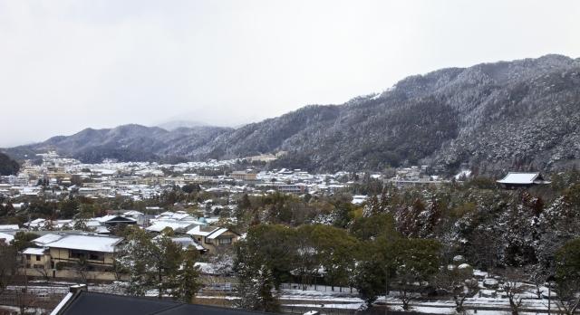 左京区の冬の風景